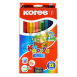 color  Kolores Jumbo kores 12 unidades + Tajalapiz  Triangular Unipunta