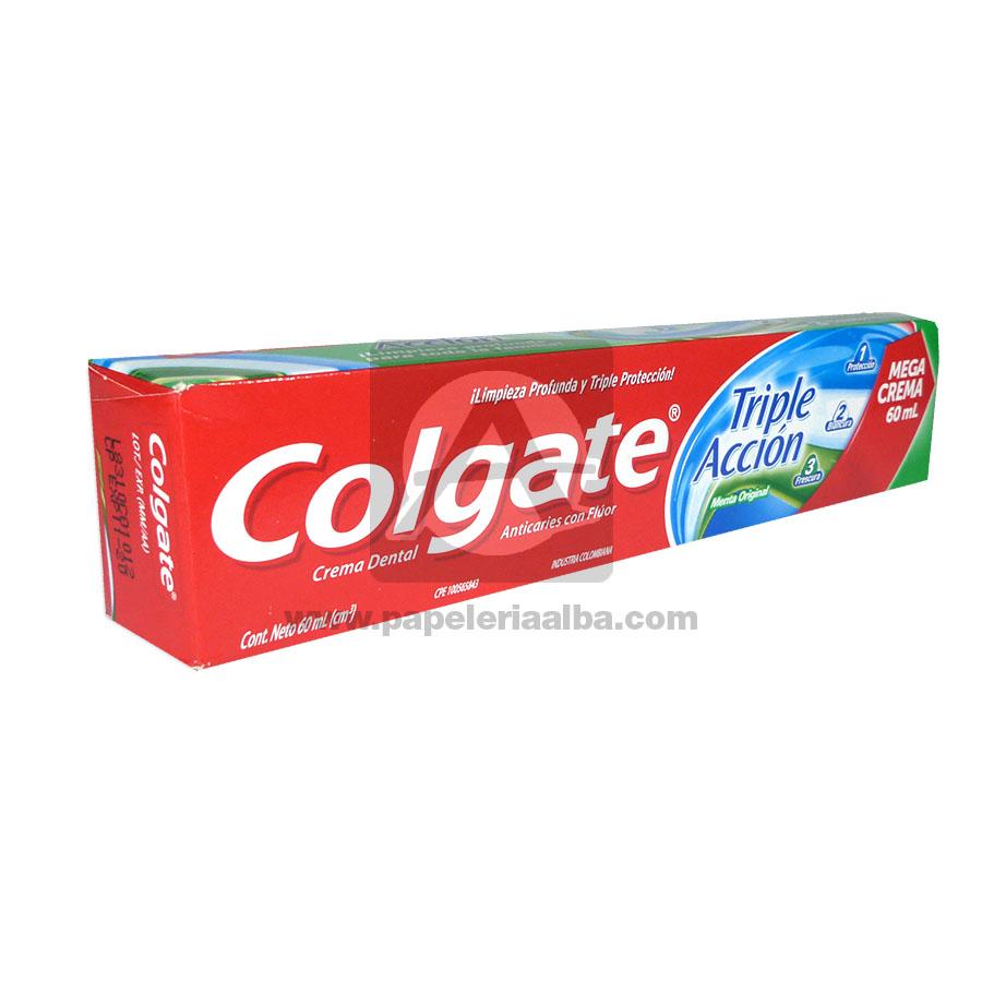 crema dental  Mega Crema Triple Acción  Colgate 60 mL