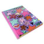 cuaderno cosido  +Book estrellas  Scribe rayado 100 hojas Niña