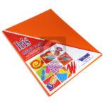 papel  Iris por paquete Icopel 20 unidades Carta naranja