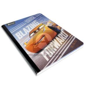 cuaderno cosido cars