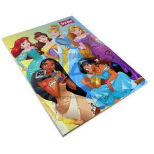 cuaderno cosido Personajes Disney Princesas scribe 100 hojas femenino cuadriculado Pasta dura