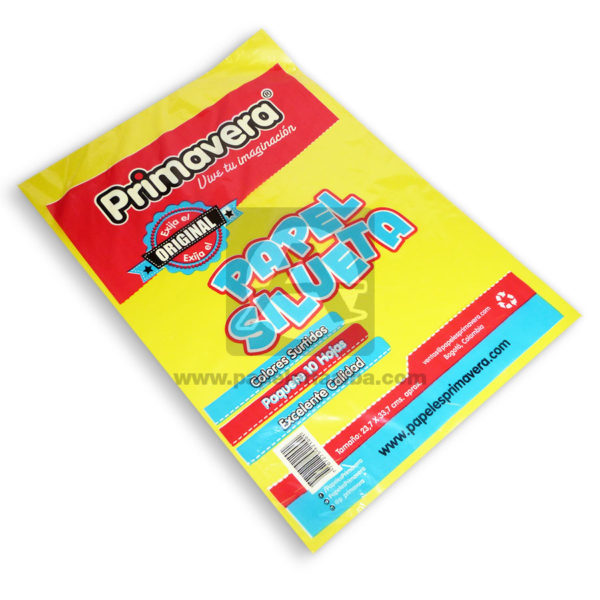 PAPEL SILUETA 18 X 10 UND PRIMAVERA -4180