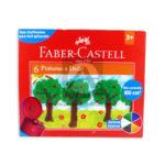 pintura  a Dedo  faber castell 6 unidades +3 Años