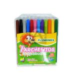 plumon  Parchesitos   12 unidades Lavable Surtido