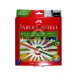 color  Bicolor  faber castell 24 Piezas x 48 Unidades + Tajalapiz  Doble Punta  Triangular