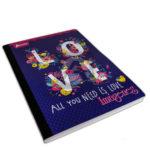 cuaderno cosido  Imágenes Love  Norma rayado 100 hojas femenino