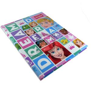 cuaderno cosido Princesas Disney scribe 100 hojas femenino cuadriculado Pasta dura -004088-002-4