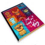 cuaderno cosido  Qnota Dogs scribe 100 hojas cuadriculado femenino