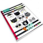 cuaderno cosido  X-Presarte Gatos  Deram Big  Norma 100 hojas rayado femenino