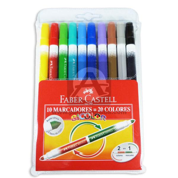 plumon-Bicolor-faber-castell-10-unidades