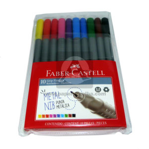 rotulo-Grip-Finepen-faber-castell-10-unidades