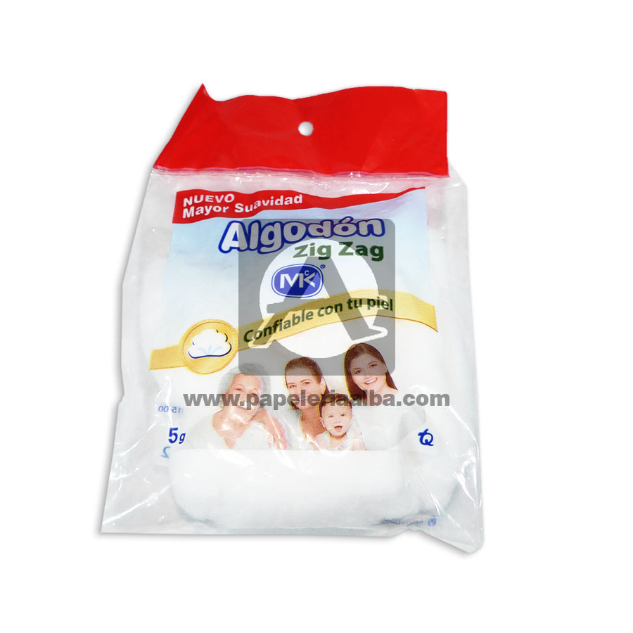 algodón  Zig Zag Mayor Suavidad  MK 5 Gramos blanco