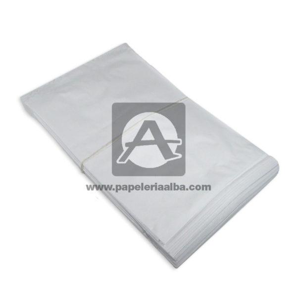 bolsa de papel Plana Paquete #112 Converpel blanco 100 Unidades Mediana