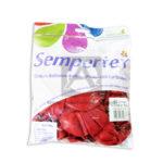 Bomba Globo  Fashion  Sempertex Rojo R-12 50 Unidades