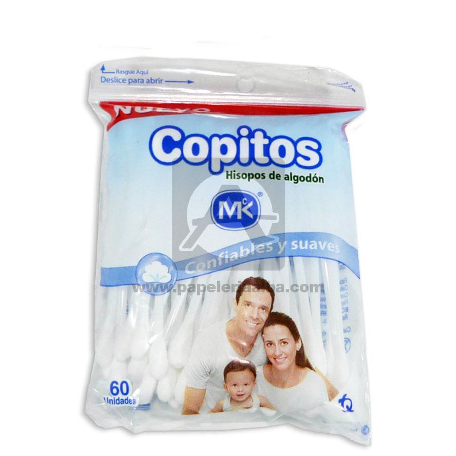 copito de algodón  Hiposo de Algodón  MK 60 Unidades Bolsa blanco