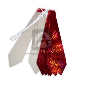 Corbata Metalizado Corazones holográfico Surtifantasias Rojo 12 unidades unisex Cartón