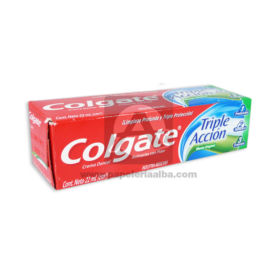 crema dental  Triple Acción  Colgate 22mL