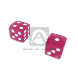 juego de mesa Dados Medianos de color Variedades Quintero Rosado 2 Unidades