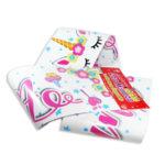 festón   Feliz Cumpleaños  Letreros los Mininos Pequeño blanco Rosado 97 cm x 13 cm femenino