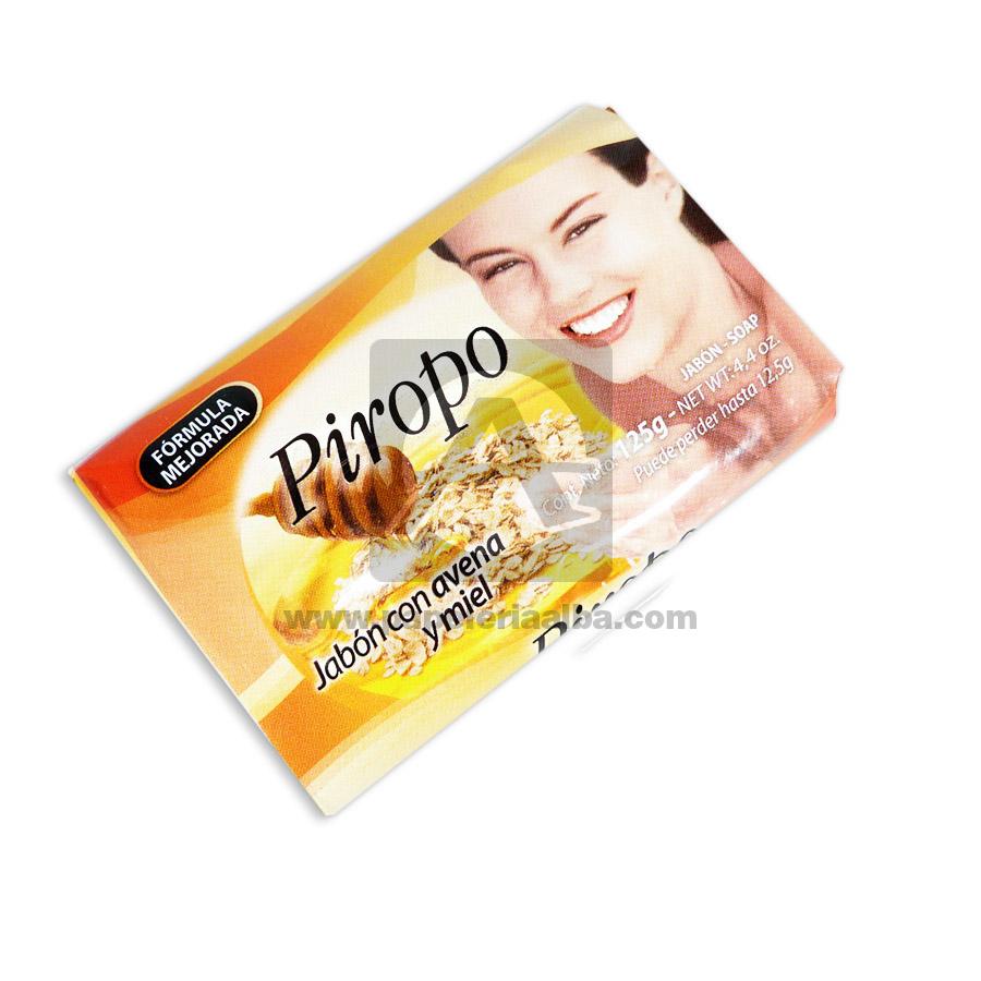 jabón de tocador  Formula Mejorada con Avena y Miel  Piropo 125 gramos femenino