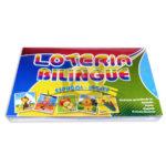 lotería juego didáctico  Bilingüe Objetos y Animales  Proyecciones Plásticas +3 Años  4 Tablas 48 Tarjetas unisex