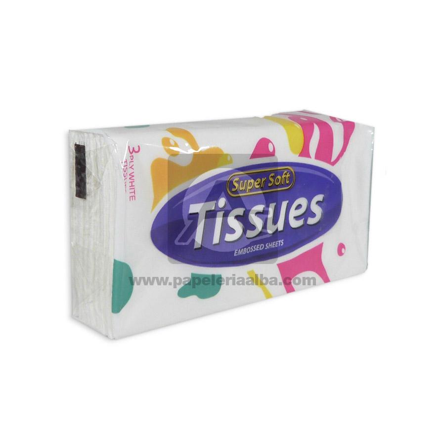 pañito humedo  Bolsillo Super Soft Tissues 3 unidades blanco unisex