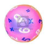 pelota  Antiestres Numérica  Fival unisex Fluorescente Pequeña