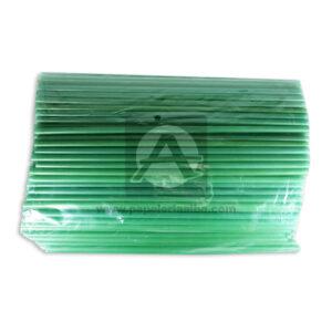 pitillo plástico Sencillo House verde 100 Unidades Largo Plástico