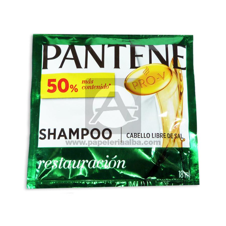 shampoo para cabello  Pro-v Restauración  Pantene femenino 18mL Sobre