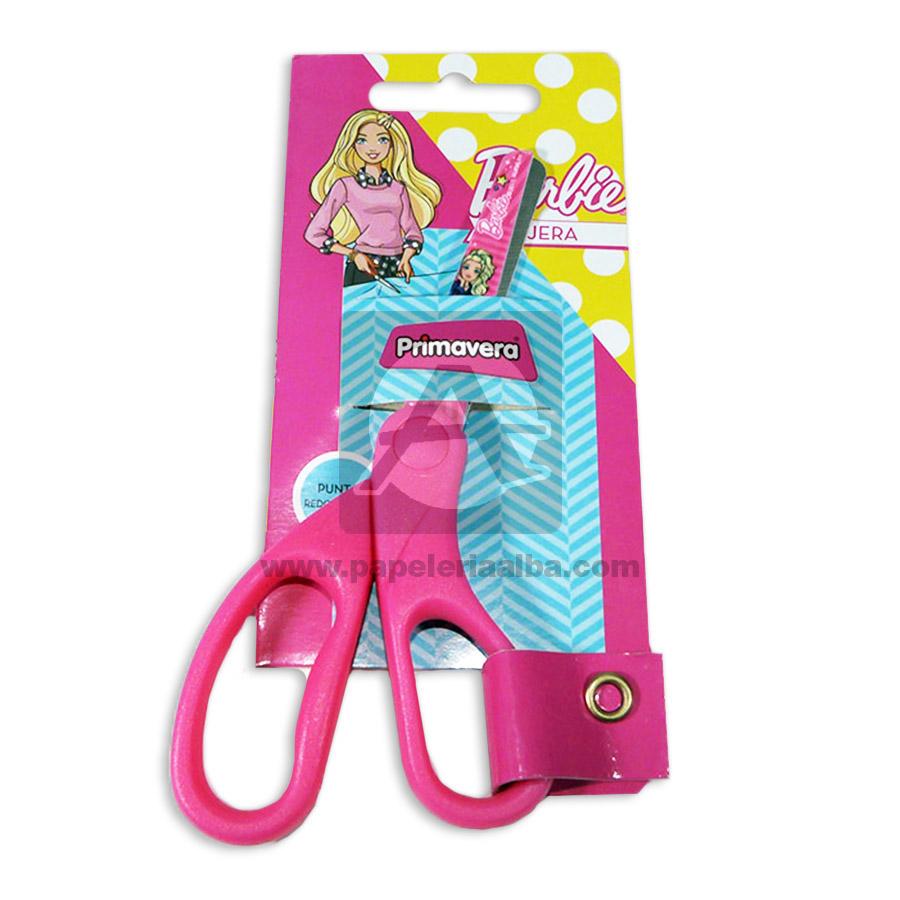 tijera  Escolar Personajes Disney Barbie  Primavera Rosado Niña  Punta Redonda