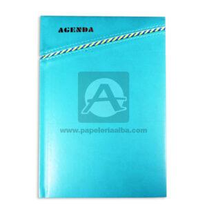 personal agenda Sencilla azul aguamarina femenino Cosida Rayada Mediana