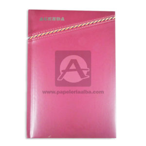 personal agenda Sencilla Metacolor vino tinto unisex Cosida Rayada Mediana