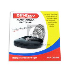 almohadilla Dactilar Pequeña OE-560 Offi- Esco Negro