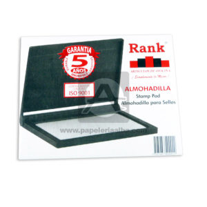 almohadilla Para sellos Stamp Pad Rank Negro