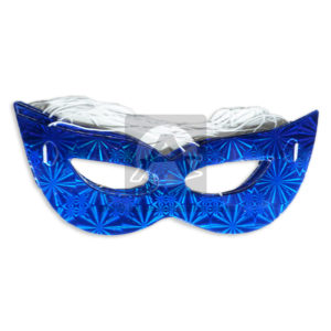 Antifaz Metalizado sencillo holográfico Surtifantasias Azul 12 unidades unisex