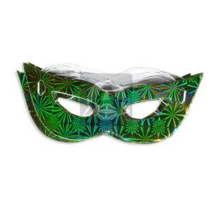 Antifaz Metalizado sencillo holográfico Surtifantasias verde 12 unidades unisex