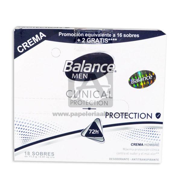 desodorante Clinical Protection Crema Caja Balance masculino 10,5 Gramos Sachets 18 Unidades