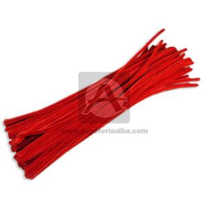 accesorio de decoración Chelines Peludos Mega Import Rojo Largo