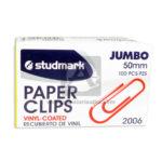 clip  Paper Clip recubierto en Vinilo 2006  Studmark Metálico Surtido 50mm 100 Unidades