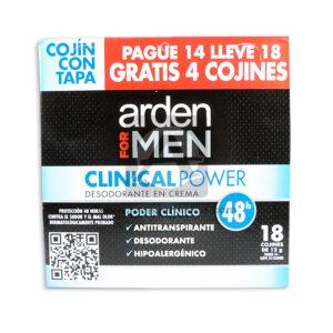 desodorante Antitrasnpirante Clinical Power en Crema 48h Hipoalergénico Caja Arden femenino 10,5 Gramos 18 Unidades Cojín Con Tapa
