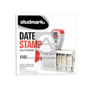 fechador Sello Multiple de fecha Date Stapm 6302 Studmark Pequeño blanco