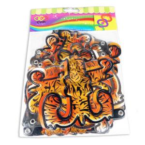 guirnalda Letrero Para Fiesta de cumpleaños, Feliz Cumpleaños Tigre CyM naranja Negro Largo unisex