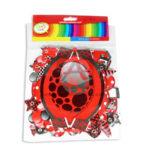 guirnalda  Letrero Fiesta  Feliz Cumpleaños Globos  CyM Rojo 14cm ancho 2m largo Largo unisex