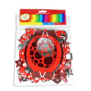guirnalda Letrero Fiesta Feliz Cumpleaños Globos CyM Rojo 14cm ancho 2m largo Largo unisex papeleria alba