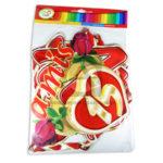 guirnalda  Letrero Para fiesta de Quince, Bienvenidos a Mis 15 Años Rosas y corazón  CyM Rojo Largo femenino
