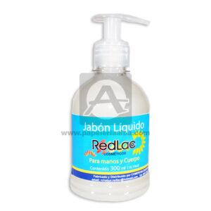 Jabón Líquido Para Manos y Cuerpo Redlac 300mL blanco