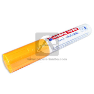 Recargable marcador Borrable Kreide Clack Marker 4090 Edding naranja Grande