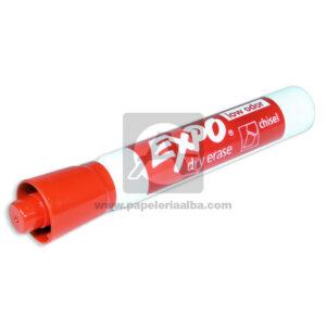 marcador Borrable Dry erase low odor Chisel Expo Rojo
