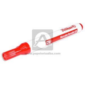 marcador Borrable Económico 424 Pelikan Rojo